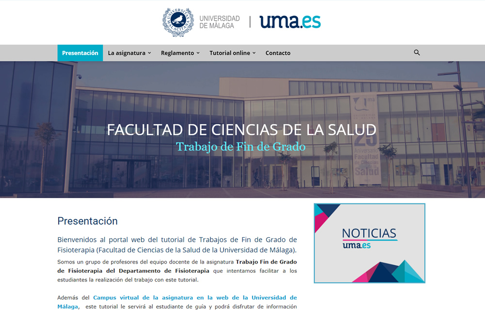 Guía Trabajos Fin de Grado Facultad de Ciencias de la Salud Málaga
