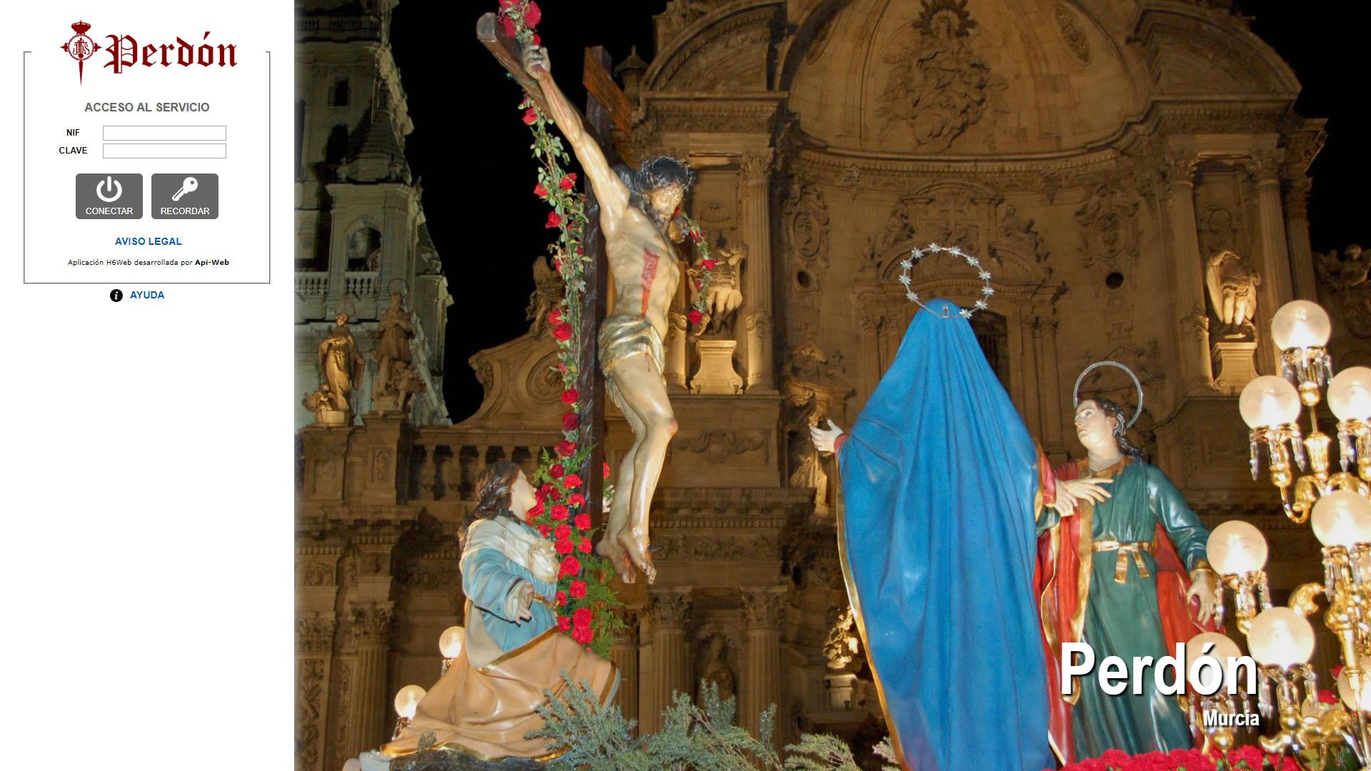 H6Web: Cofradía del Perdón (Murcia)