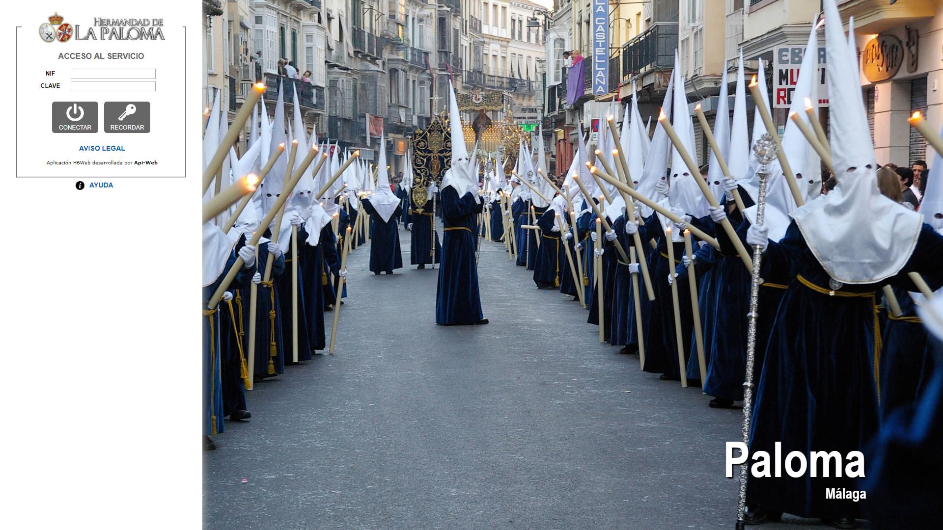 H6Web: Hermandad de la Paloma (Málaga)