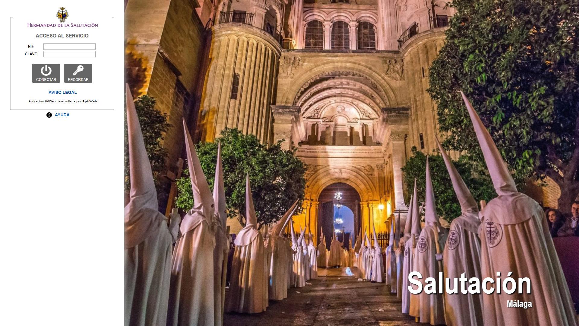 H6Web: Hermandad de la Salutación (Málaga)
