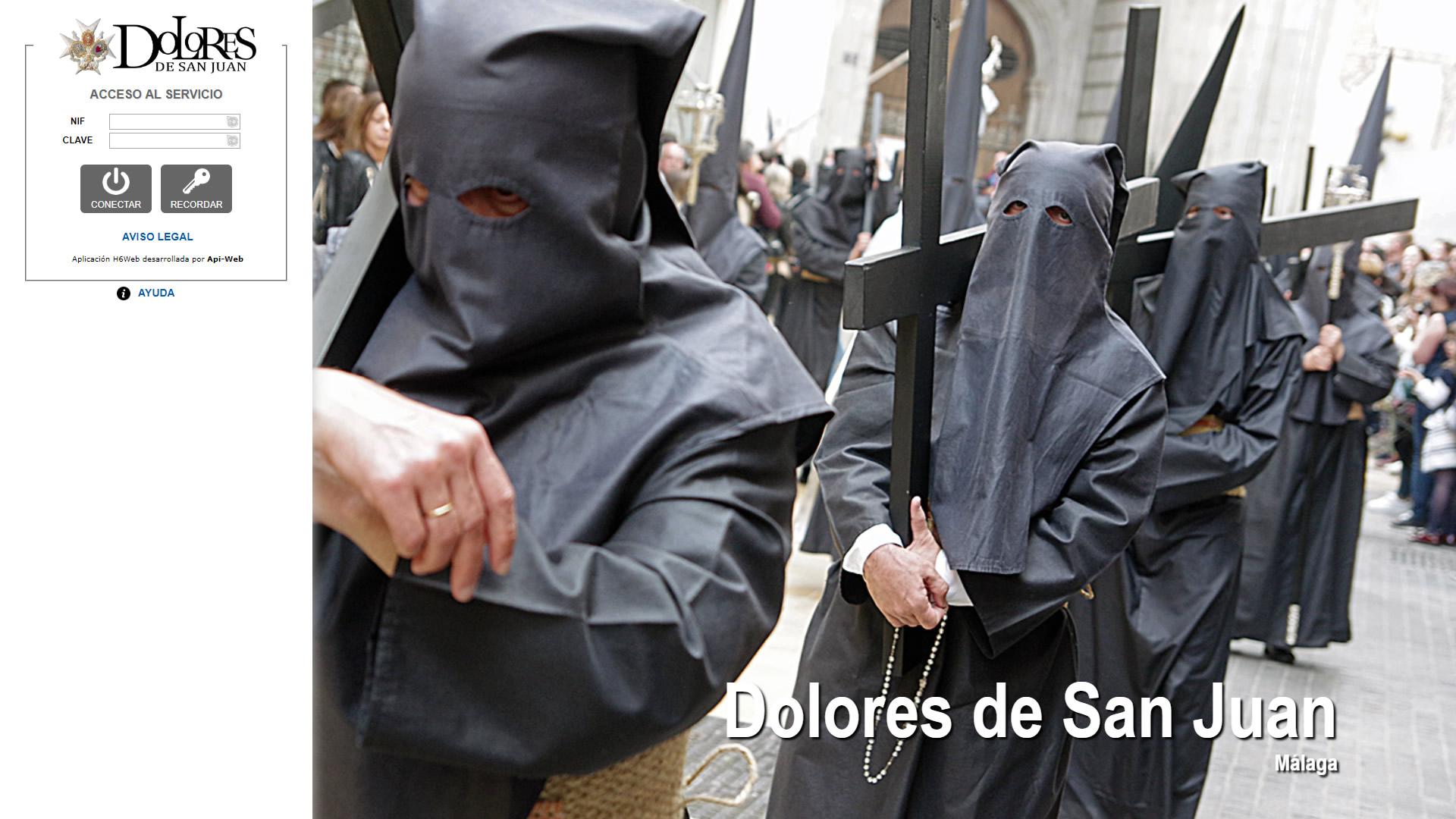 H6Web: Archicofradía de los Dolores de San Juan (Málaga)