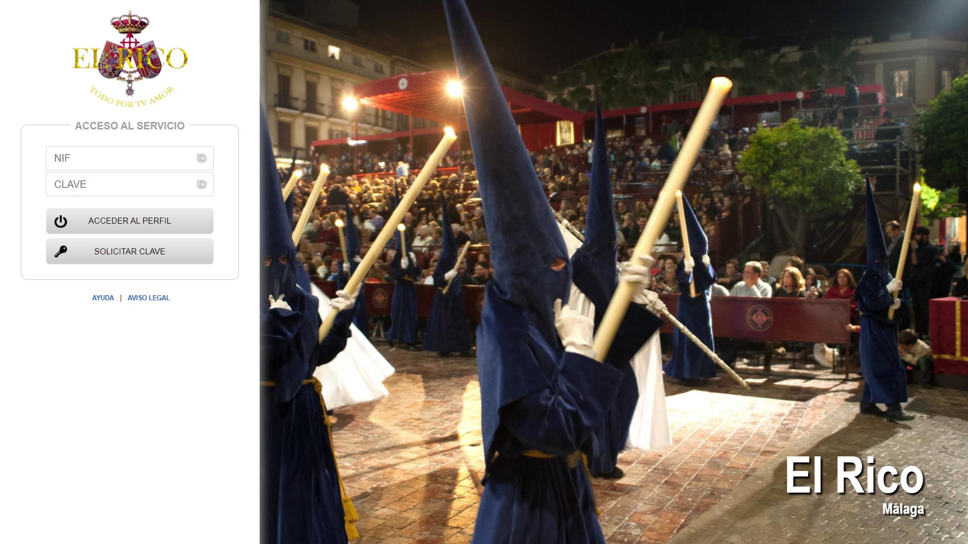H6Web: Cofradía de El Rico (Málaga)