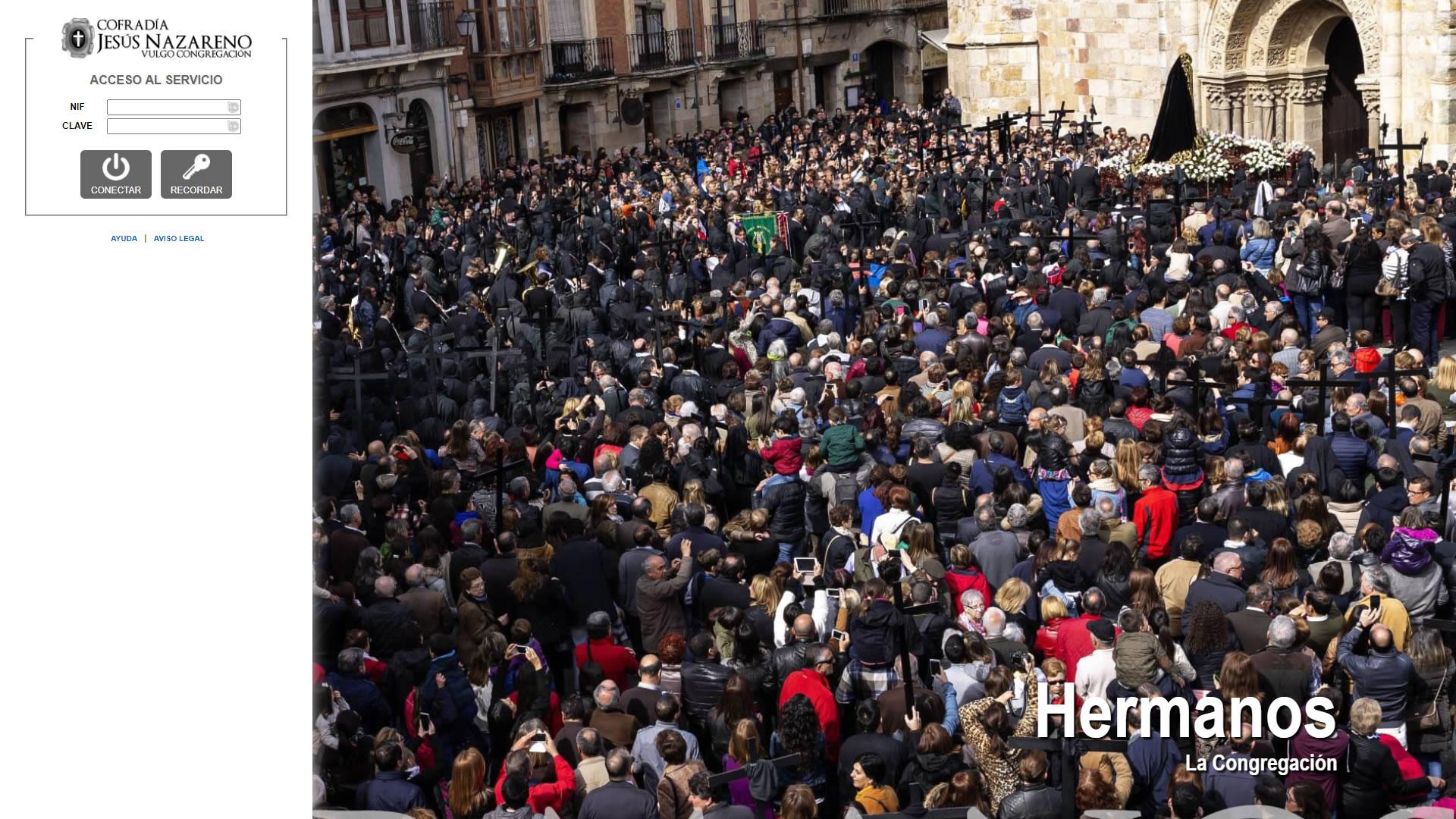 H6Web: Cofradía Jesús Nazareno Vulgo Congregación (Zamora)