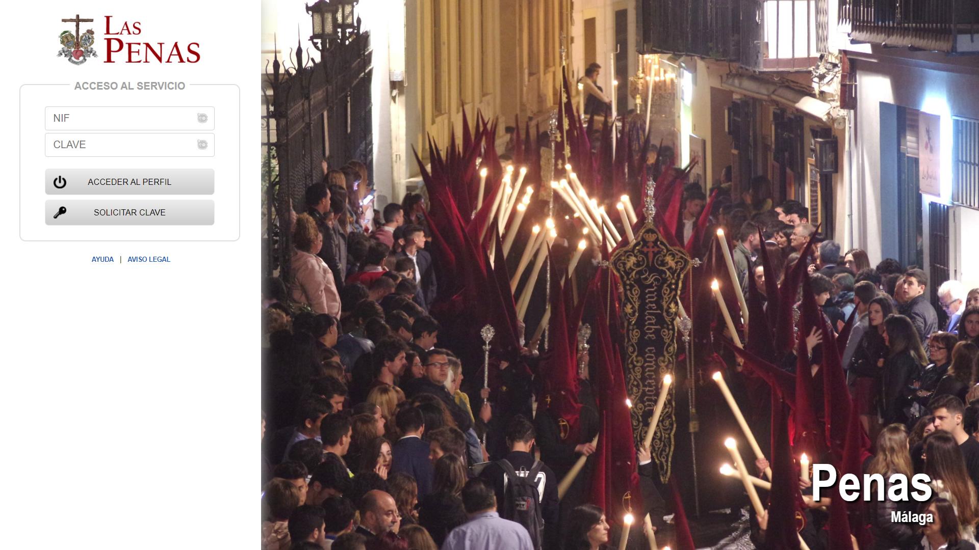 H6Web: Cofradía de Las Penas (Málaga)